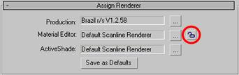 """Změna povrchu podlahy - postup č.11 - Tak, jako jsme předtím klikli na čtvereček s ikonkou zamčeného zámku a tím odemkli ,,Material Editor"""", klikneme nyní na tento čtvereček (tentokrát s ikonkou odemčeného zámku) znovu, abychom ,,Material Editor"""" zase zamkli. Čtvereček je na obrázku označený červeným kolečkem."""