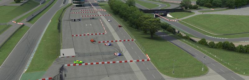 公式コースレイアウト外でのレース