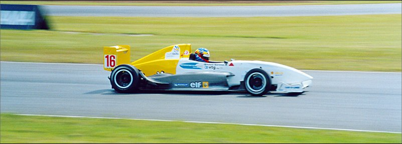 Robert Bjorkman in his Formula Renault