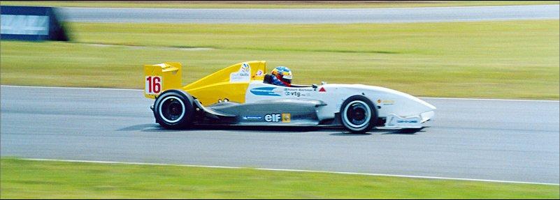 Robert Bjorkman w swojej Formule Renault